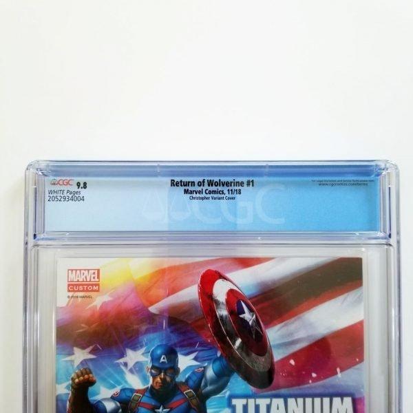 Return of Wolverine #1 CGC 9.8 NM/M Christopher Variant Back Label