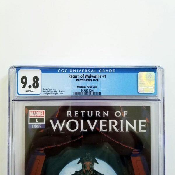 Return of Wolverine #1 CGC 9.8 NM/M Christopher Variant Front Label