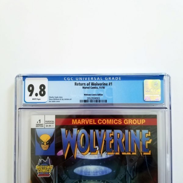 Return of Wolverine #1 CGC 9.8 NM/M Midtown Comics Variant Front Label