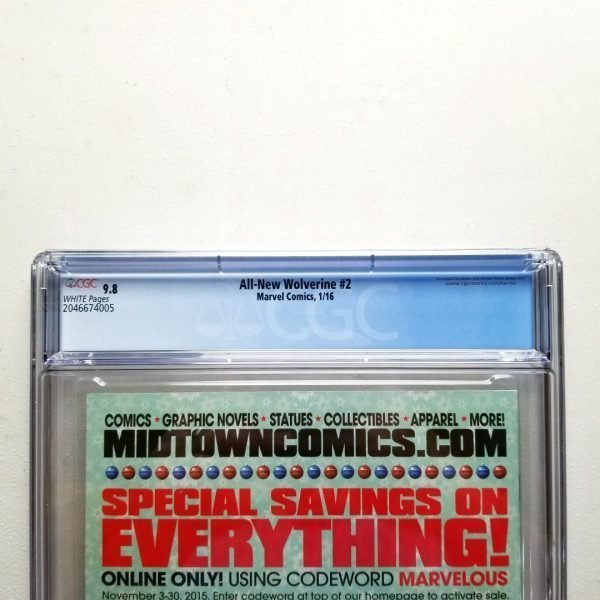 All-New Wolverine #2 CGC 9.8 NM/M Back Label