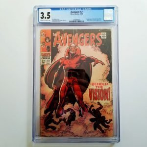 Avengers #57 CGC 3.5 VG- Front
