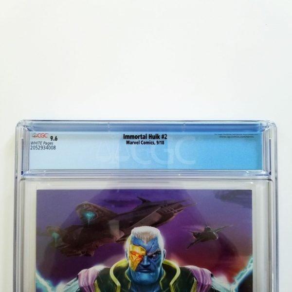 Immortal Hulk #2 CGC 9.6 NM+ Back Label