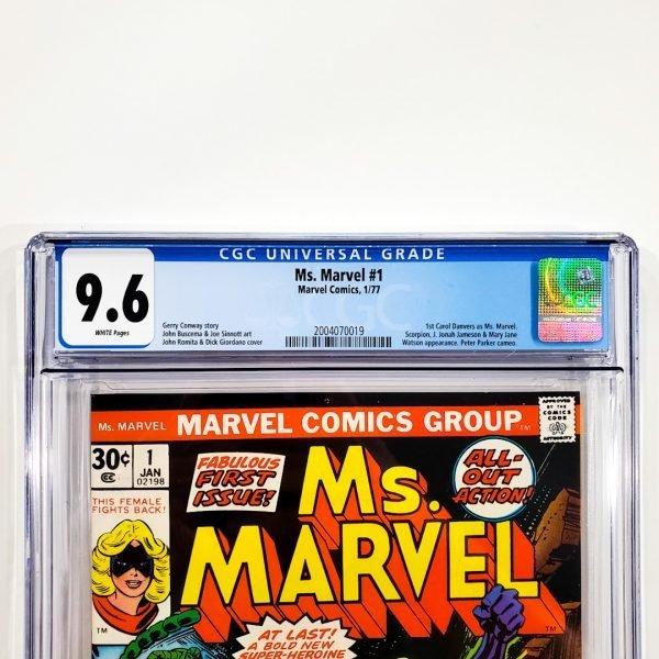Ms. Marvel #1 CGC 9.6 NM+ Front Label