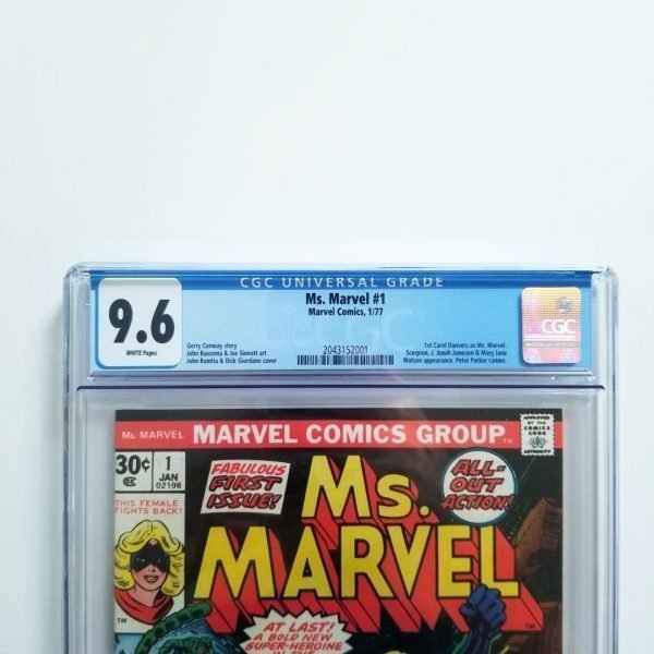 Ms. Marvel #1 CGC 9.6 NM+ Front Label