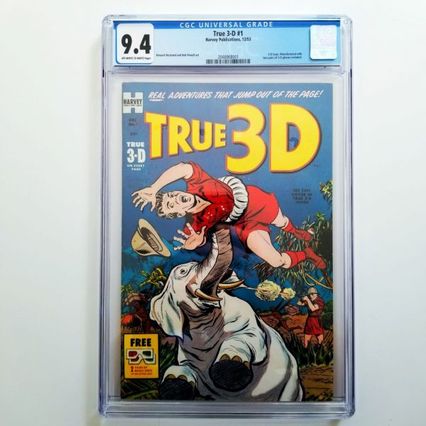 True 3-D #1 CGC 9.4 NM Front