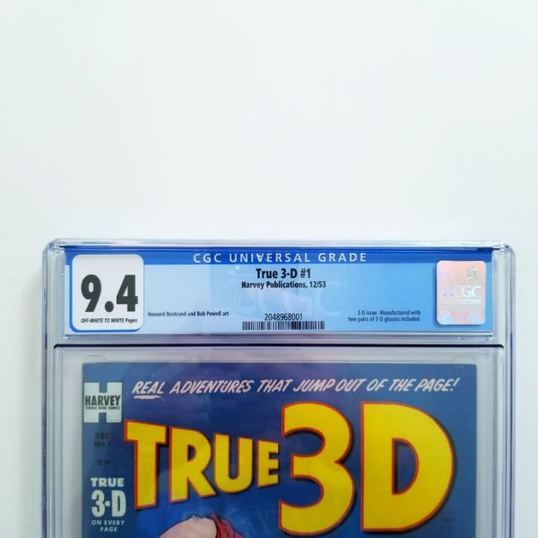 True 3-D #1 CGC 9.4 NM Front Label