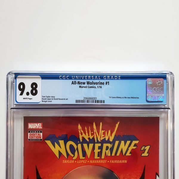 All-New Wolverine #1 CGC 9.8 NM/M Front Label