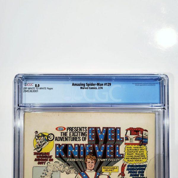 Amazing Spider-Man #129 CGC 8.0 VF Back Label