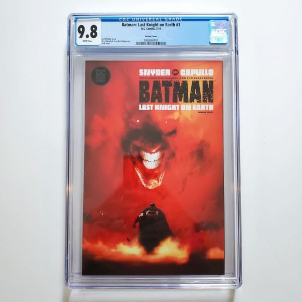 Batman: Last Knight on Earth #1 CGC 9.8 Jock Variant Front