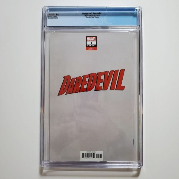 Daredevil Annual #1 CGC 9.6 Dell'Otto Virgin Variant Back