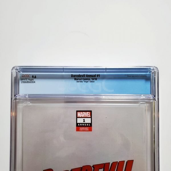 Daredevil Annual #1 CGC 9.6 Dell'Otto Virgin Variant Back Label