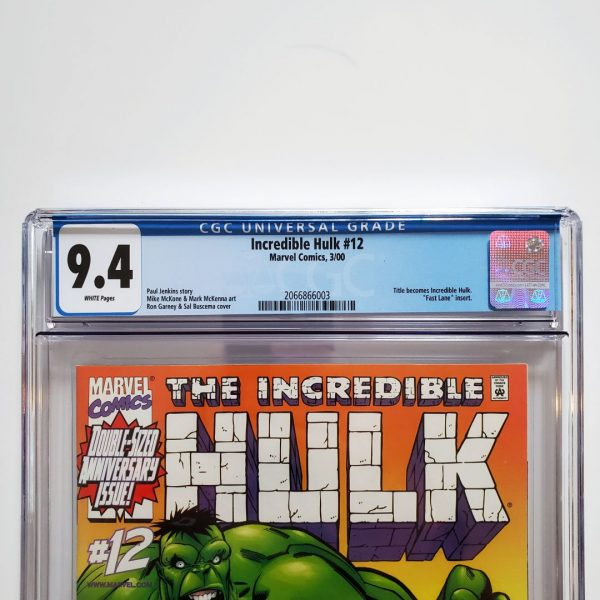 Incredible Hulk (Vol. 2) #12 CGC 9.4 NM Front Label