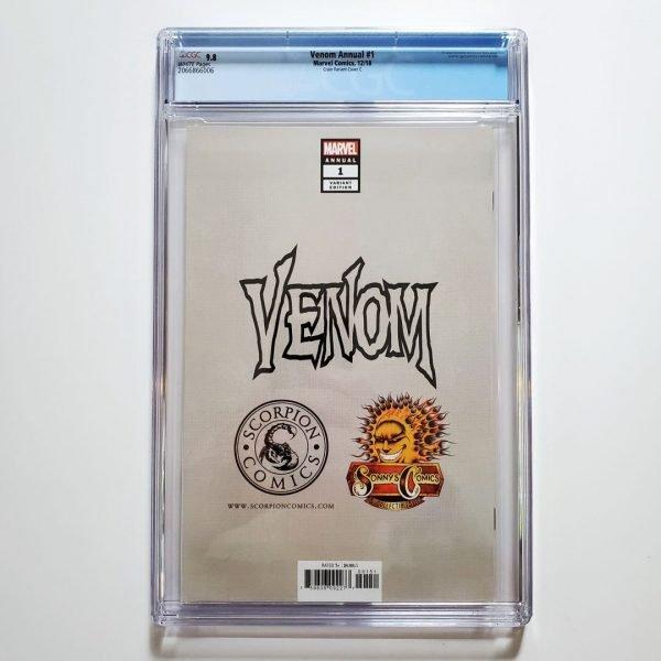 Venom Annual #1 CGC 9.8 Clayton Crain Virgin Variant Cover C Back