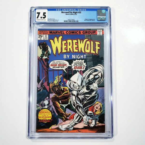 Werewolf By Night #32 CGC 7.5 VF- Front