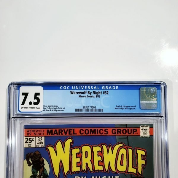 Werewolf By Night #32 CGC 7.5 VF- Front Label
