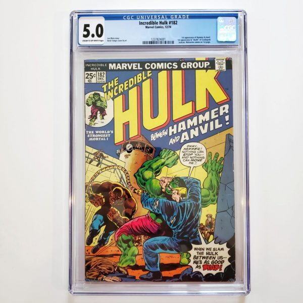 Incredible Hulk #182 CGC 5.0 VG/FN Front