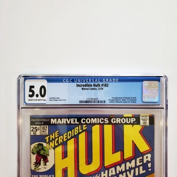 Incredible Hulk #182 CGC 5.0 VG/FN Front Label