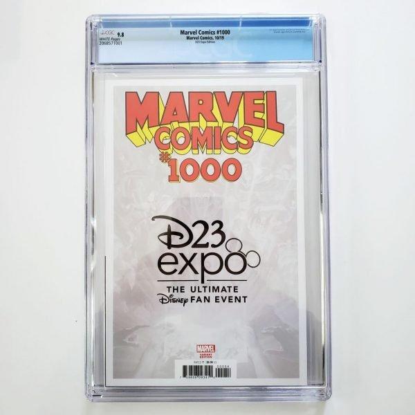 Marvel Comics #1000 CGC 9.8 D23 Expo Variant Back