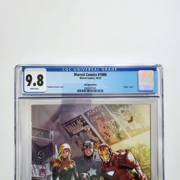 Marvel Comics #1000 CGC 9.8 D23 Expo Variant Front Label