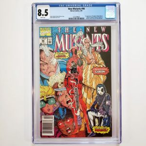 New Mutants #98 CGC 8.5 VF+ Front