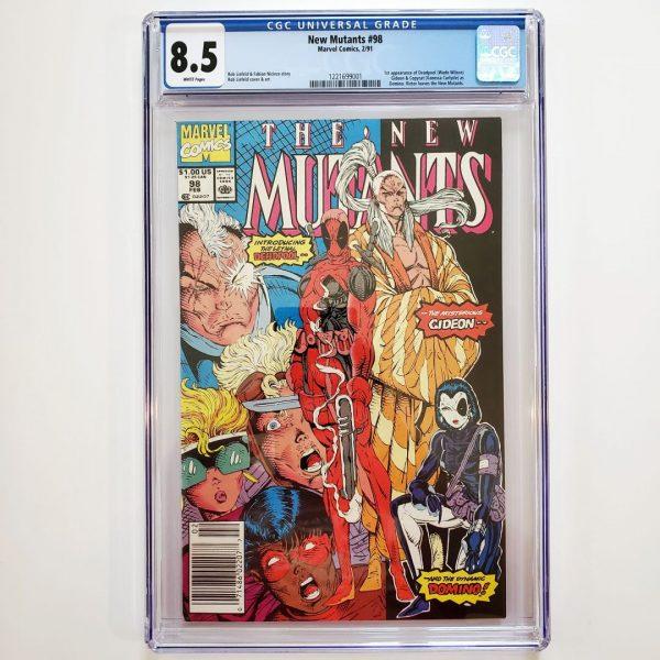 New Mutants #98 CGC 8.5 VF+ Front