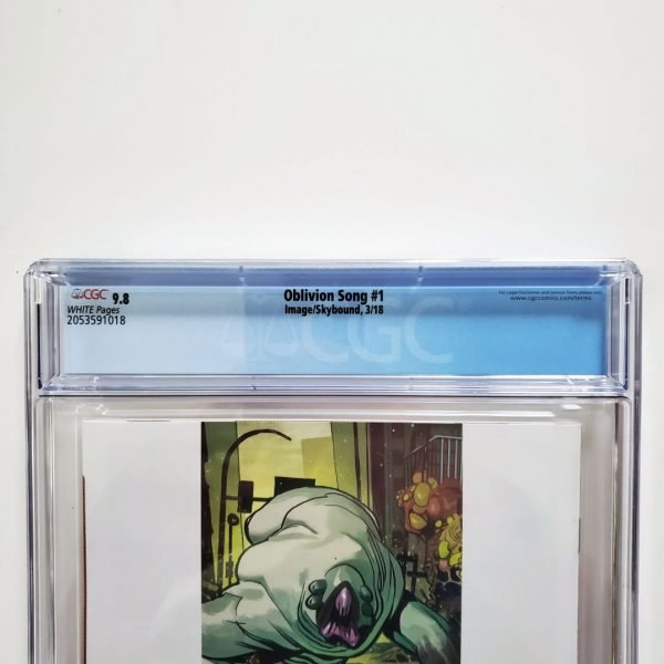 Oblivion Song #1 CGC 9.8 NM/M Back Label