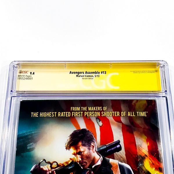 Avengers Assemble #13 CGC SS 9.8 NM/M Lee Variant Back Label