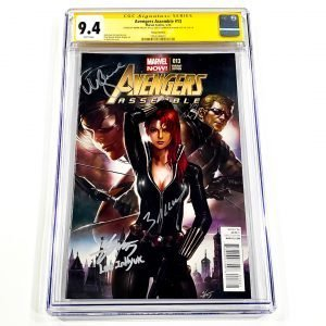 Avengers Assemble #13 CGC SS 9.8 NM/M Lee Variant Front