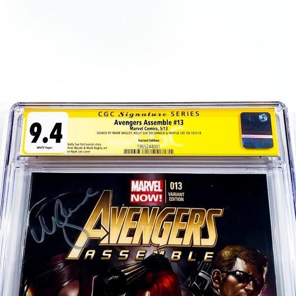 Avengers Assemble #13 CGC SS 9.8 NM/M Lee Variant Front Label