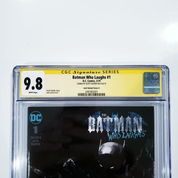 Batman Who Laughs #1 CGC 9.8 SS Jock Variant Front Label