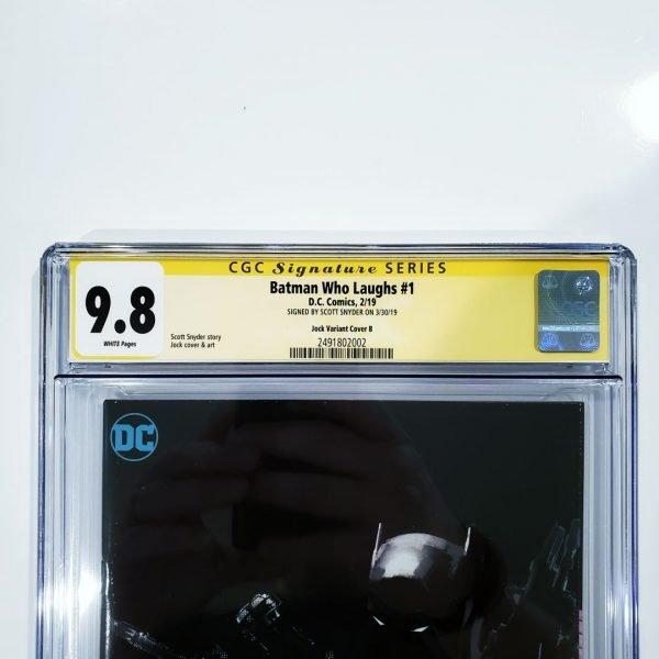 Batman Who Laughs #1 CGC 9.8 SS Jock Virgin Variant Front Label