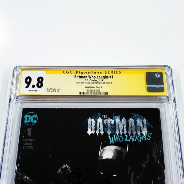 Batman Who Laughs #1 CGC SS 9.8 NM/M Jock Variant Front Label