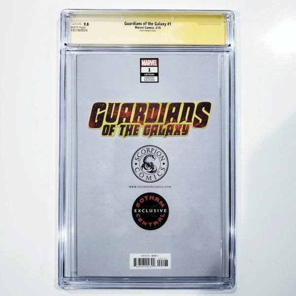 Guardians of the Galaxy #1 CGC SS 9.8 Clayton Crain Variant Back