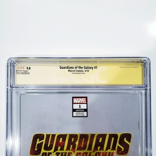 Guardians of the Galaxy #1 CGC SS 9.8 Clayton Crain Variant Back Label