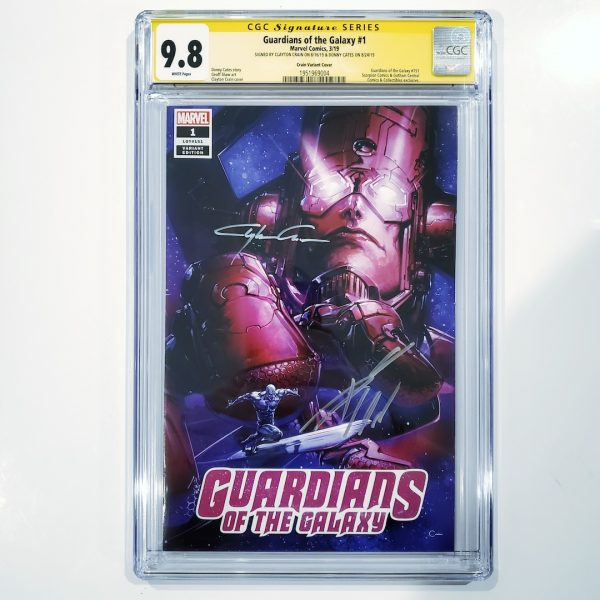 Guardians of the Galaxy #1 CGC SS 9.8 Clayton Crain Variant Front