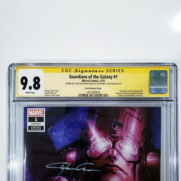 Guardians of the Galaxy #1 CGC SS 9.8 Clayton Crain Variant Front Label