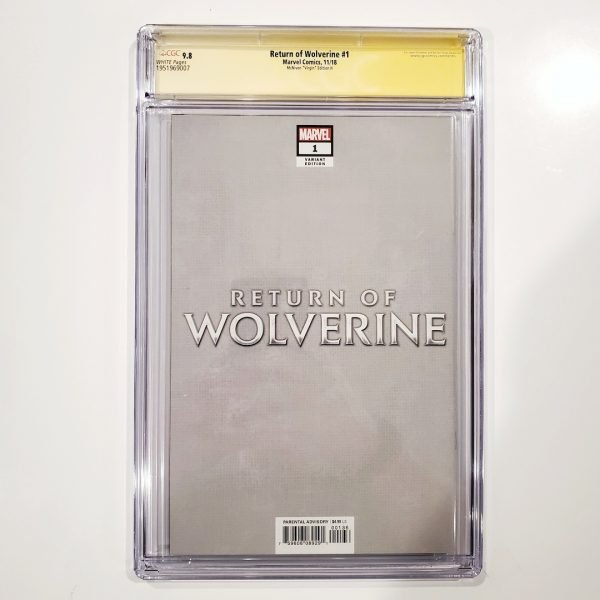 Return of Wolverine #1 CGC SS 9.8 McNiven Variant H Back
