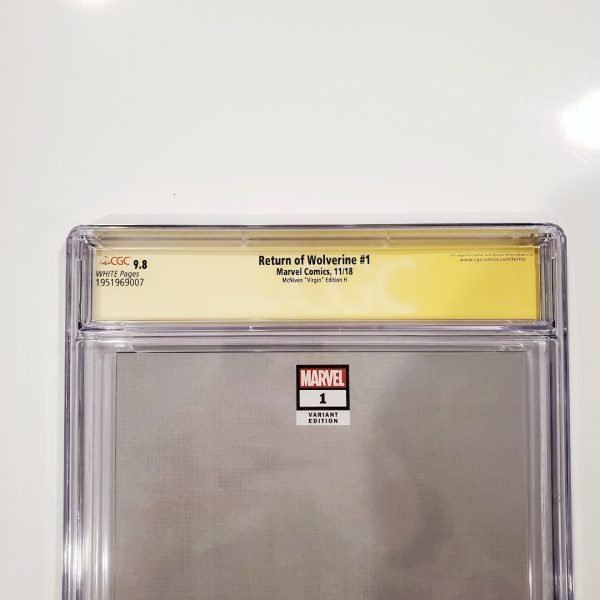 Return of Wolverine #1 CGC SS 9.8 McNiven Variant H Back Label