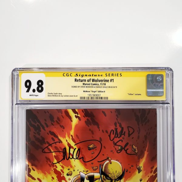 Return of Wolverine #1 CGC SS 9.8 McNiven Variant H Front Label