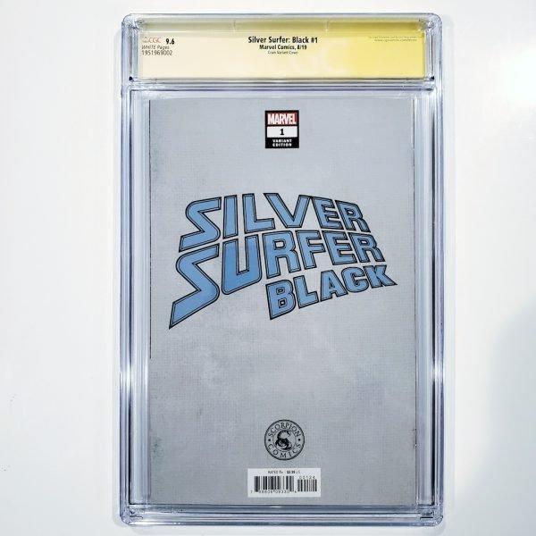 Silver Surfer: Black #1 CGC SS 9.6 NM+ Clayton Crain Variant Back