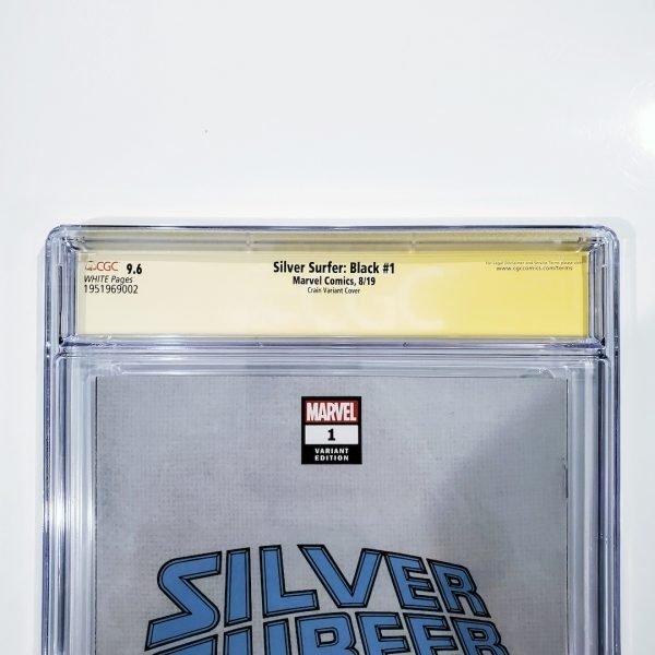 Silver Surfer: Black #1 CGC SS 9.6 NM+ Clayton Crain Variant Back Label