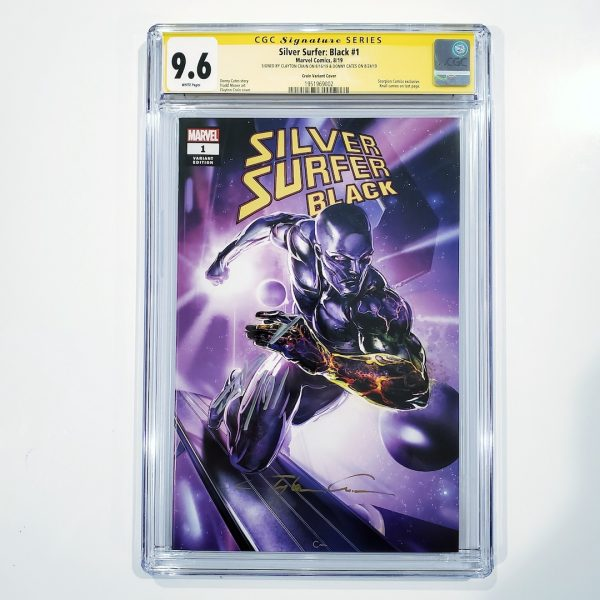 Silver Surfer: Black #1 CGC SS 9.6 NM+ Clayton Crain Variant Front