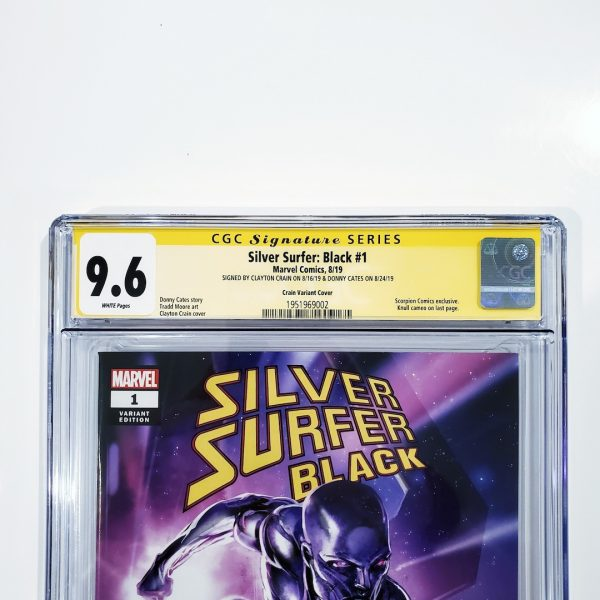 Silver Surfer: Black #1 CGC SS 9.6 NM+ Clayton Crain Variant Front Label
