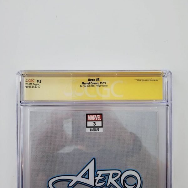 Aero #3 CGC SS 9.8 Big Time Collectibles Virgin Variant Back Label
