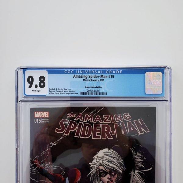 Amazing Spider-Man #15 (2016) CGC 9.8 NM/M Aspen Comics Variant Front Label