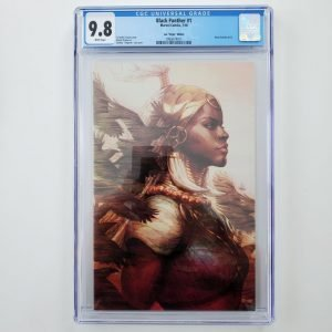 Black Panther #1 CGC 9.8 Artgerm Virgin Variant Front