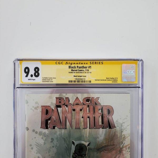 Black Panther #1 CGC SS 9.8 David Mack Variant Front Label