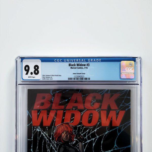 Black Widow #3 CGC 9.8 NM/M Jones Variant Front Label