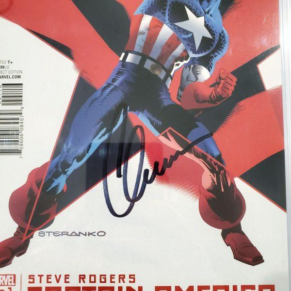 Captain America: Steve Rogers #1 CGC SS 9.8 Steranko Variant Chris Evan Signature