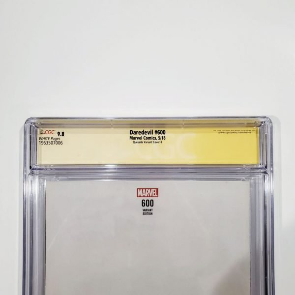 Daredevil #600 CGC SS 9.8 Quesada Variant Cover B Signed Back Label